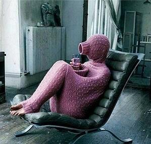 Introvert in Full-Body Sweater