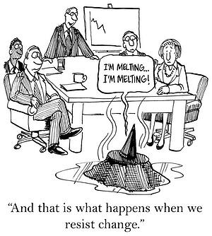 Cartoon - What Happens When You Can't Embrace Change in the Workplace